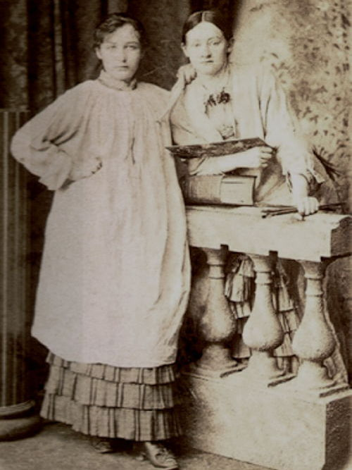 Fotografia di Camille Claudel con Ghita Theurieten