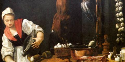 Quadro di Andrea Commodi, Giovane donna in cucina