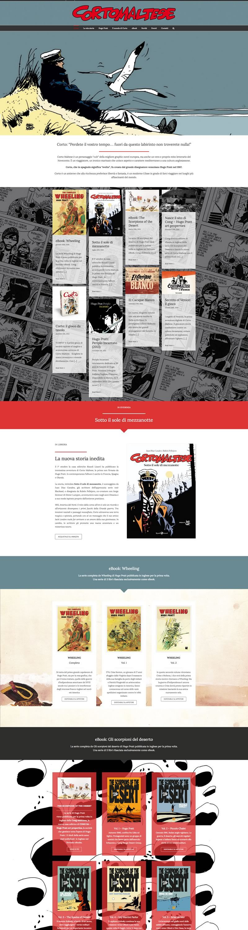 Corto Maltese website design