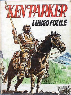 La copertina della prima edizione del 1977 di Ken Parker dal titolo Lungo Fucile