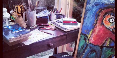 tavolo di un pittore