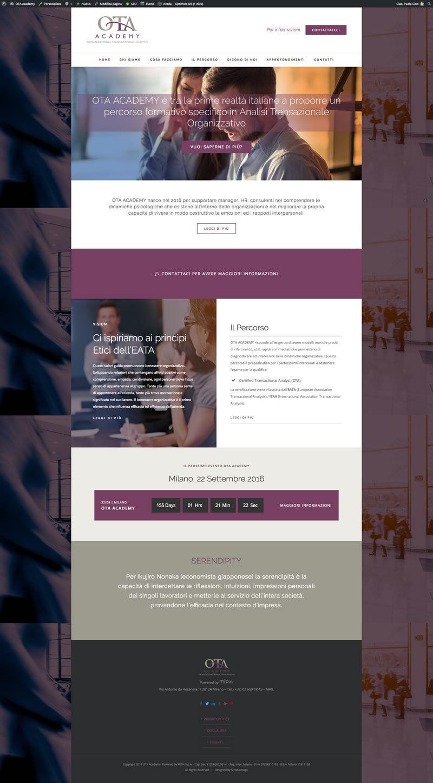 OTA Academy website design
