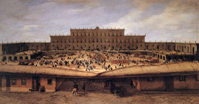 Pandolfo Reschi, Veduta di Palazzo Pitti, 1668-69; Firenze, Galleria Palatina (Palazzo Pitti)