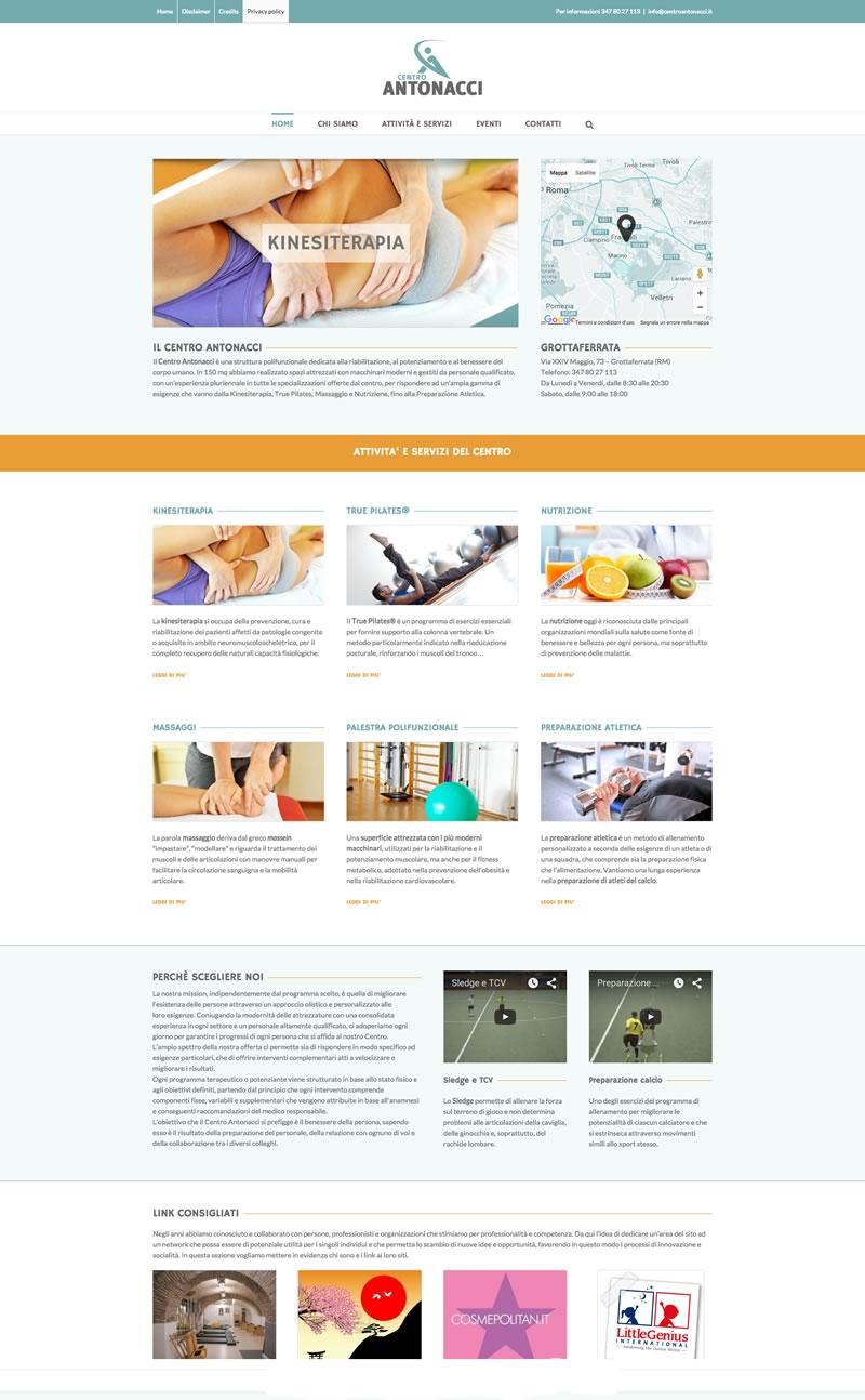 Website design Centro Antonacci