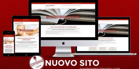 Website design Parole in Movimento