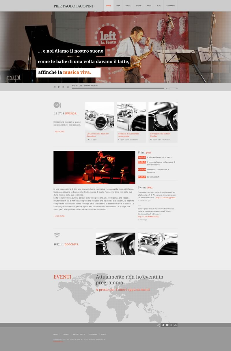 Website design Pier Paolo Iacopini