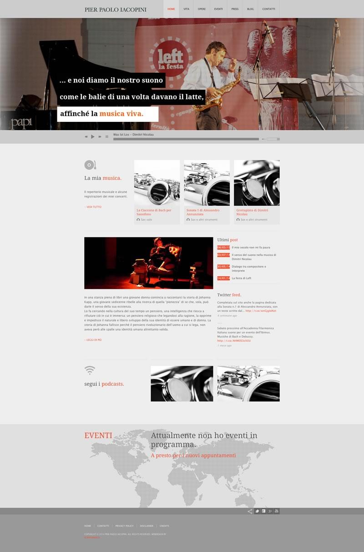 Website design Pier Paolo Iacopini