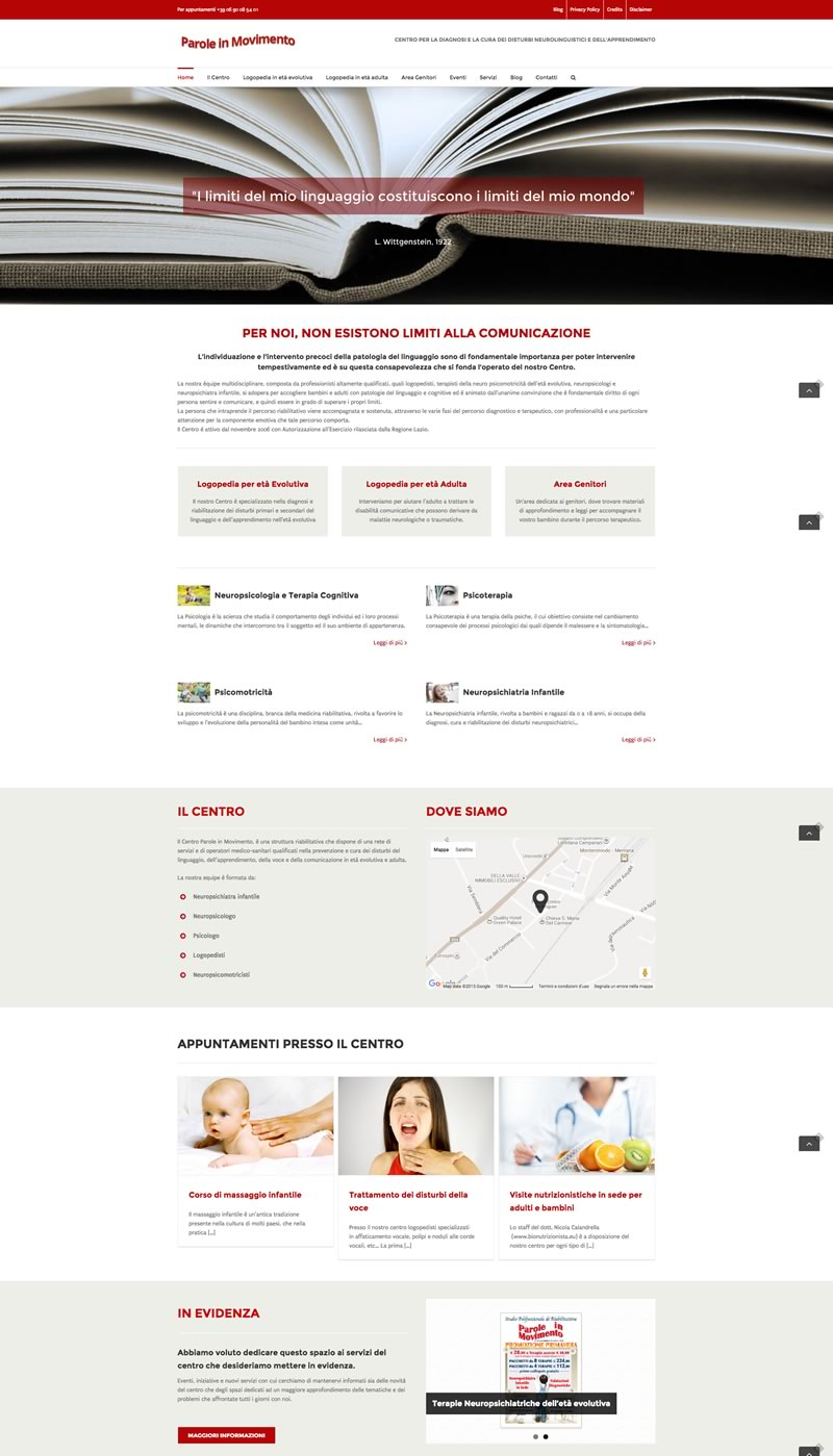 Website Redesign Parole in Movimento