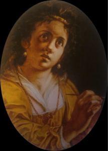 Artemisia Gentileschi, Autoritratto o Allegoria della pittura (1614-20)