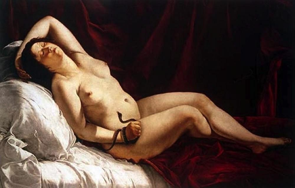 Artemisia Gentileschi, Morte di Cleopatra, 1612 o 1621- 1622; collezione privata.
