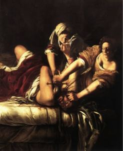 Artemisia Gentileschi, Giuditta che decapita Oloferne, 1612-1621; Firenze, Galleria degli Uffizi.