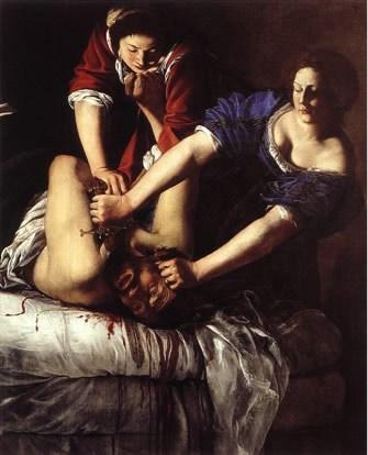 Artemisia Gentileschi, Giuditta che decapita Oloferne, 1612-13; Napoli, Museo nazionale di Capodimonte.