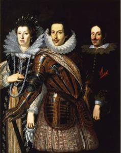 Justus Suttermans, Ritratto di Cosimo II de' Medici, Maria Maddalena d'Austria e il figlio Ferdinando, 1640 ca.