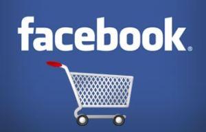 logo facebook con carrello della spesa