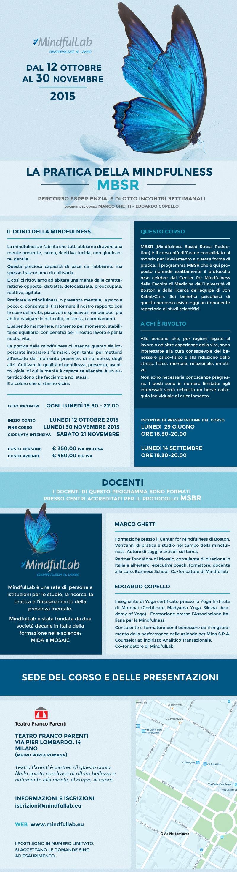 Locandina MindfulLab per corso sulla mindfulness