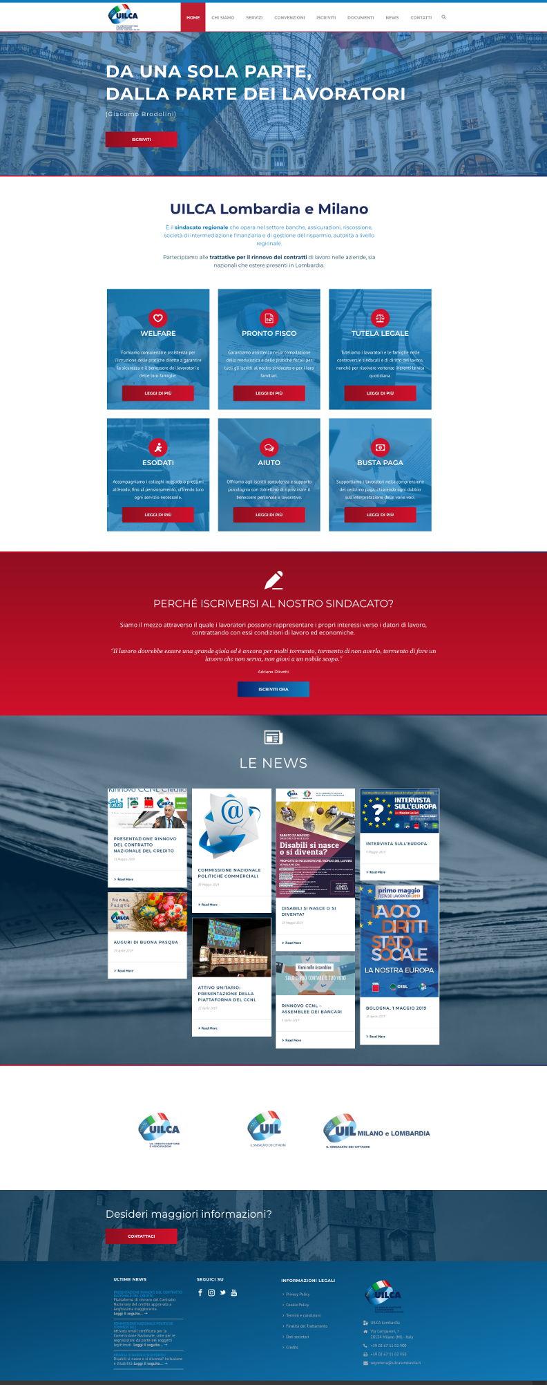 Website design uilca lombardia e milano paola cinti for Web designer milano