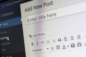 Schermata di inserimento di un contenuto su wordpress
